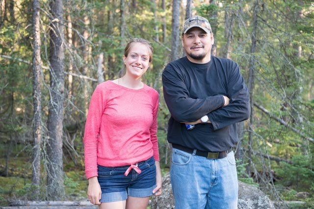 Human Environment Consultant Leah Culver and  Pimicikamak knowledge holder