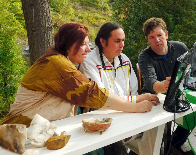 Scott Mackay working with Magnetawan First Nation knowledge holders in the field