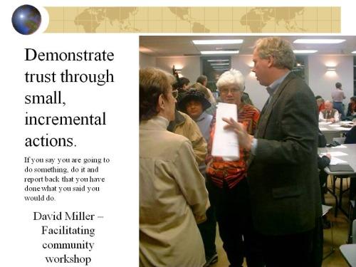 David Miller facilitating community workshop