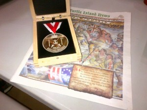 Medal Awarded to the Mississaugas of the New Credit First Nation by Ontario for Service in the War of 1812