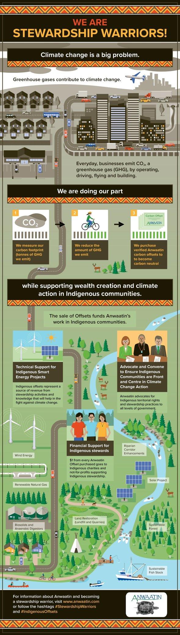 Anwaatin Infographic: We are #StewardshipWarriors! #IndigenousOffsets