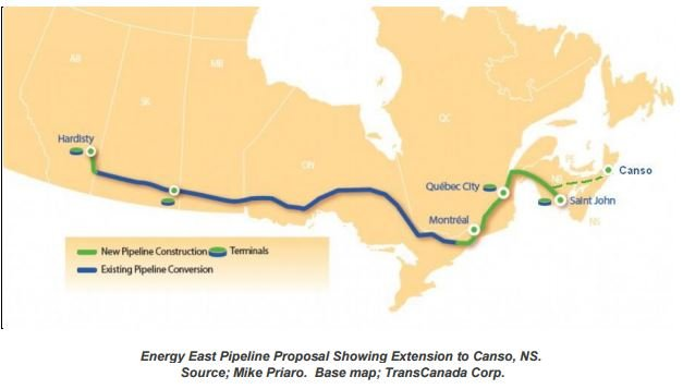 Energy East Pipeline to Nova Scotia? The Strait of Canso alternative