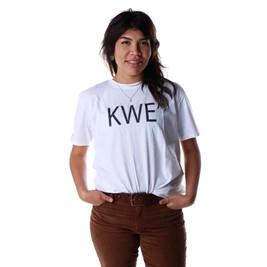 woman wearing KWE t-shirt