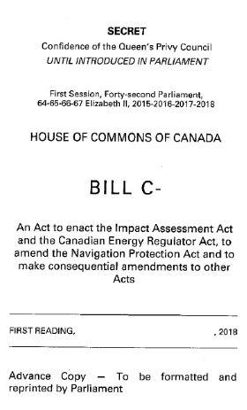 Secret version of Bill C-62, just before release