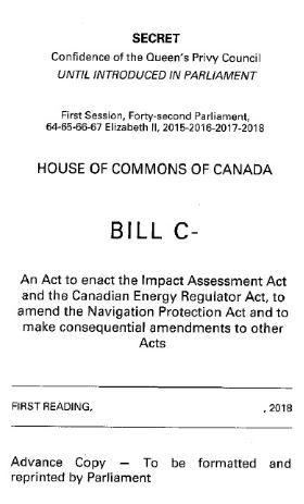 Secret version of Bill C-62, just before release