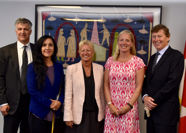 L to R: Rod Northey, Renée Pelletier, Johanne Gélinas (Panel Chair), Hon. Catherine McKenna, Doug Horswill